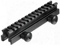 "Utg Weaver/picatinny Riser Mount, Medium Profile, 0.83"" High, 13 Slots"