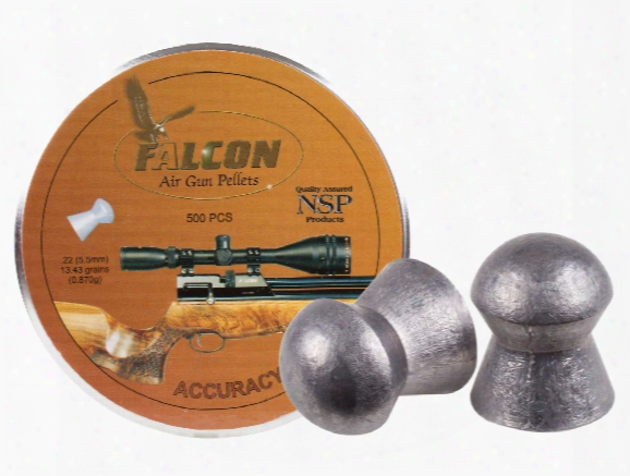Air Arms Falcon .22 Cal, 5.52mm, 13.43 Grains, Domed, 500ct