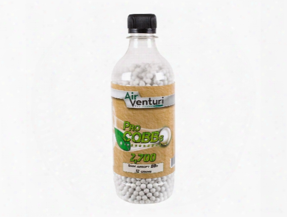Air Venturi Pro Cqbbs 6mm Biodegradable Airsoft Bbs, 0.12g, 2700 Rds, White