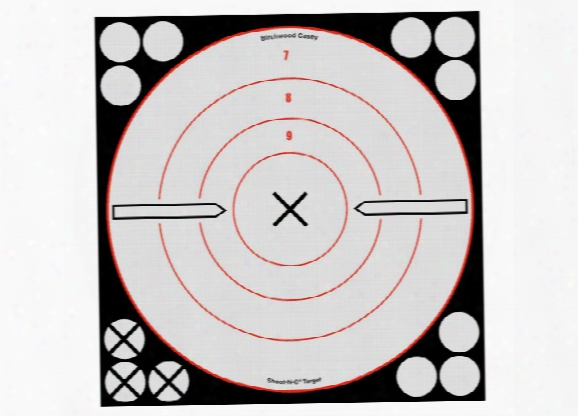 "Birchwood Casey Shoot-n-c White/black Bullseye X Targets & Pasers, 8"", 6ct"