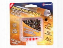 Crosman Powershot Gold Flying Penetrator Pellets, .177 Cal, 8.5 Grains, Pointed, Lead-free, 125ct