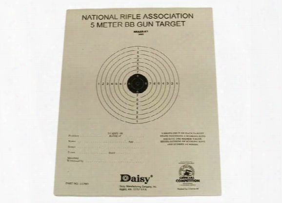 "Daisy Official Nra 5-meter Bb Gun Targets, 6.75""x5.38"" ,50ct"