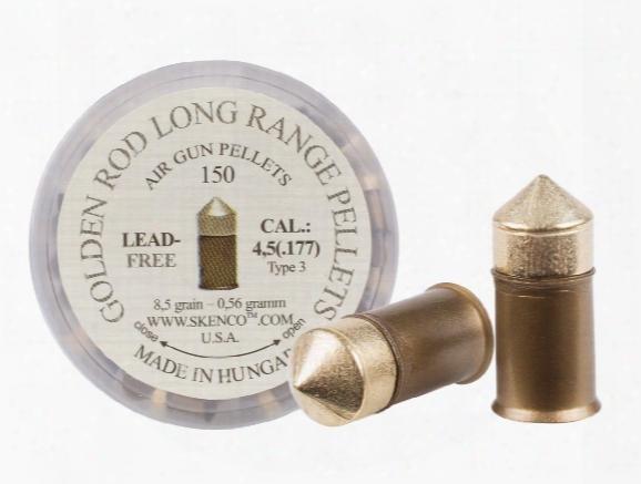 Golden Rod Long-range Pellets, Type 3, .177 Cal, 8.5 Grains, Pointe D, Lead-free, 150ct