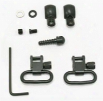 "Grovtec Swivel Set, Wood Screws, Fits Some Lever-action & Tube-mag Rifles & Carbines, 1"" Loops, Black Oxide"