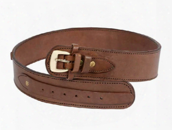 "Gun Belt, 30-34"" Waist, .38-cal Loops, 2.5"" Wide, Chocolate Leather"