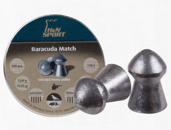 H&n Baracuda Match, .177 Cal, 10.65 Grains, Round Nose, 500ct