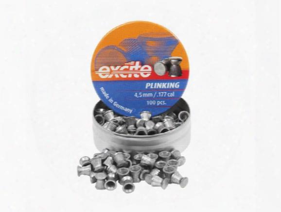 H&n Excite Plinking Pellets, .177 Cal, 7.48 Grains, Wadcutter, 100ct