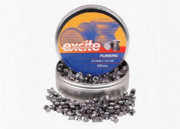 H&n Excite Plinking Pellets, .177 Cal, 7.48 Grains, Wadcutter, 500ct