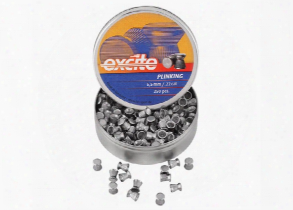 H&n Excite Plinking Pellets, .22 Cal, 12.96 Grains, Wadcutter, 250ct