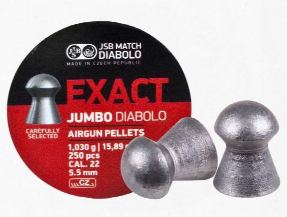 Jsb Match Exact Jumbo Diabolo Pellets, .22 Cal, 15.89 Grains, Domed, 250ct