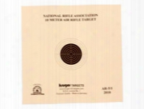 "Kruger Nra 10 Meter Air Rifle Target, 5.5""x5.5"", 100ct"