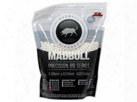 Mad Bull Precision Grade 6mm Plastic Airsoft Bbs, 0.20g, 4,000 Rds, White