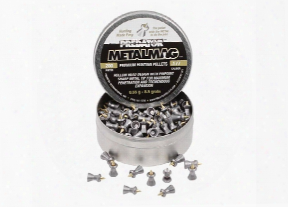 Predator Metalmag Pellets, .177 Cal, 8.5 Grains, Pointed, 200ct