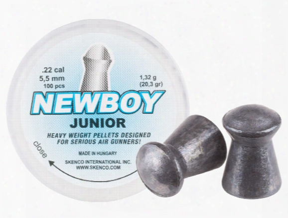 Skenco Newboy Junior, .22 Cal, 20.3 Grains, Round Nose, 100ct