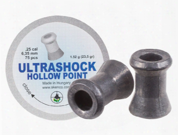 Skenco Ultrashock, .25 Cal, 23.50 Grains, Hollowpoint, 75ct