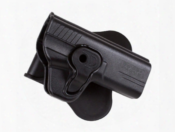 Swiss Arms Mp9 Paddle Polymer Holster For S&w M&p 9mm Air & Airsoft Pistols, Black