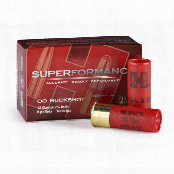"""10 Rds. Hornady Superformance 12 Gauge 2 3/4"""" Shot Shells"""