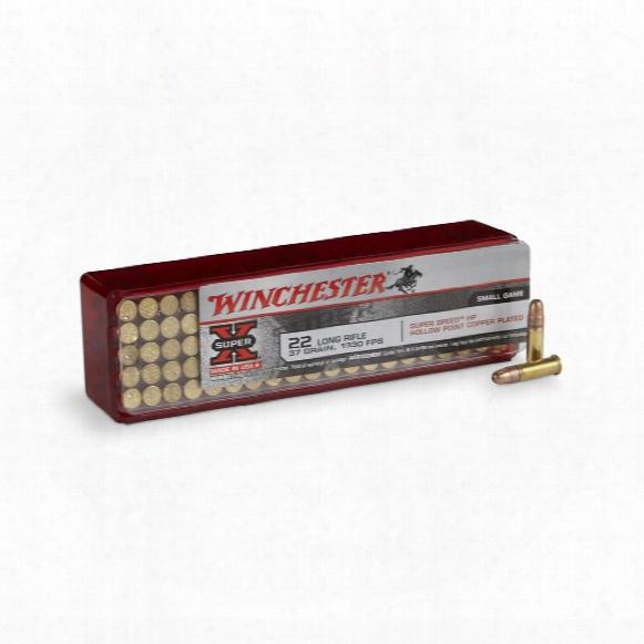 100 Rounds Winchester Super-x .22lr 37 Grain Hp Ammo