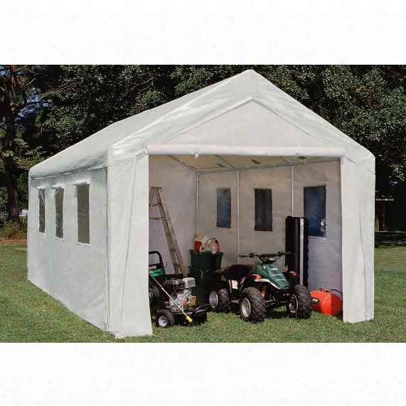 10x20' Hercules Snow Load Canopy Shelter / Garage, White