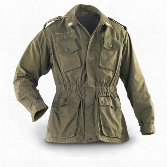 2 Used Italian Military Combat Jackets, Olive Drab