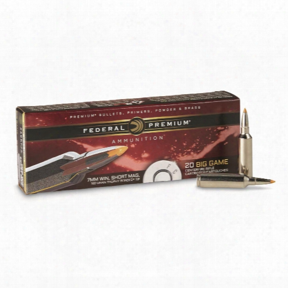 20 Rounds Federal® Trophy Bonded® Tip 7mm Win.® Short Mag 160 - Grain Ammo