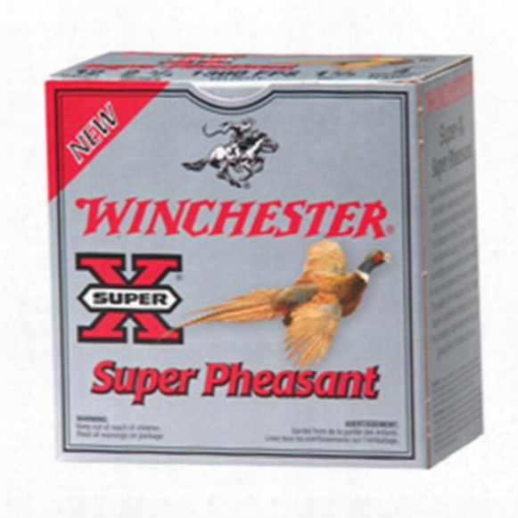 "25 Rds. Winchester 12 Gauge 3"" 1 1/4 Oz. Super-x Super Pheasant Copper Plated Shotshells"