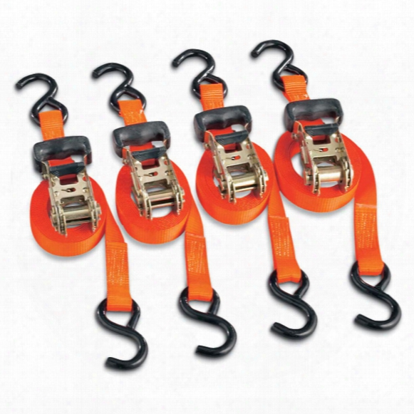 4 Smart Strap 3,000-lb. 10' Ratchet Tie Downs