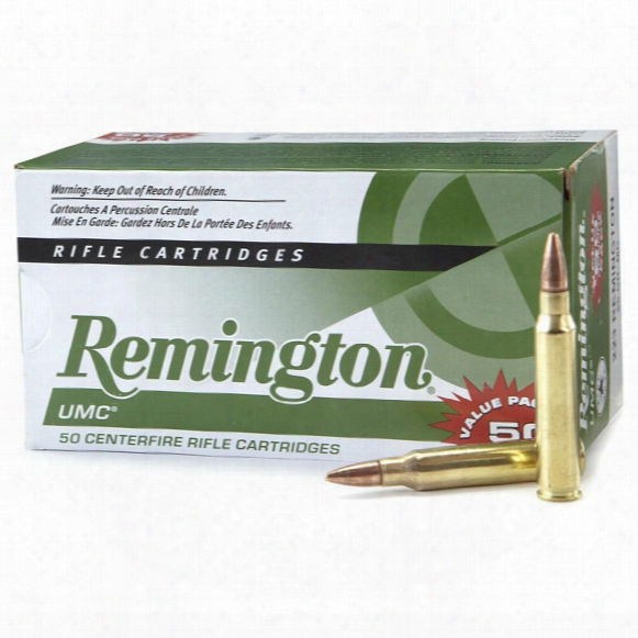 50 Rounds Remington Umc .223 Rem. 55 Grain Mc Centerfire Rifle Ammo