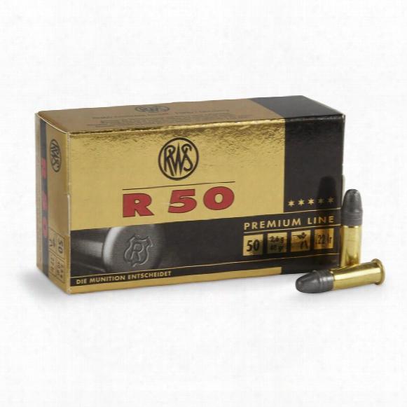 50 Rounds Rws Premium Line R50 40 Grain .22lr Ammo