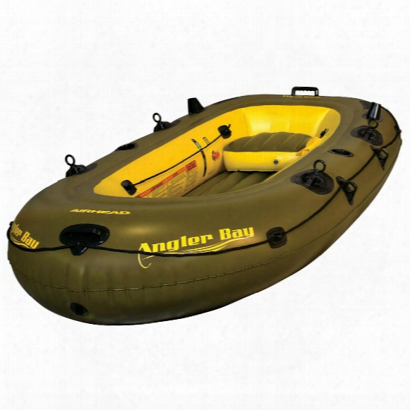 Airhead® Angler Bay Inflatable Boat, 4 - Person
