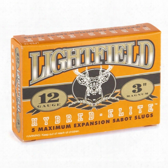 "Box Of 5 Lightfield Hybred Elite 12 Gauge 3"" 1 1/4-oz. Sabot Slugs"
