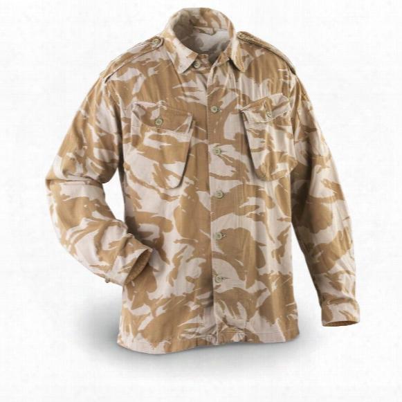 British Military Surplus Desert Camo Field Shirts, 3 Pack, Used