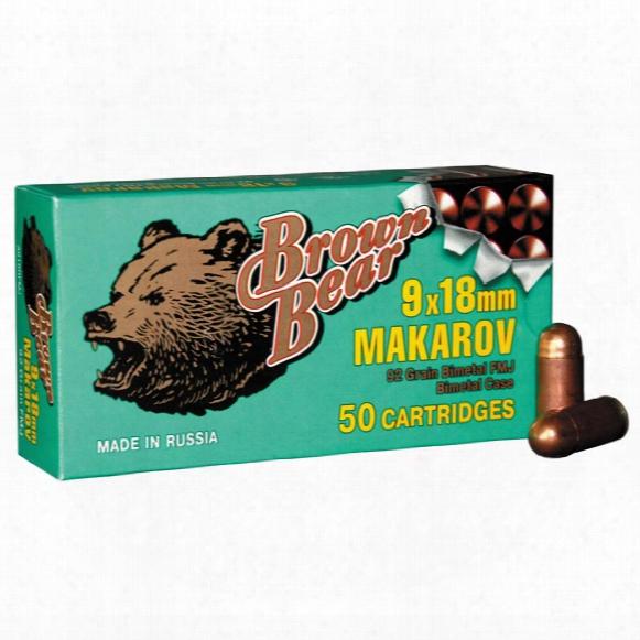 Brown Bear, 9x18mm Makarov, Fmj, 94 Grain, 250 Rounds