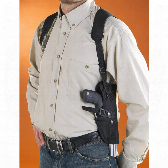 "Classic Old West Styles Vertical Shoulder Harness Holster, Mid-length Revolvers, 4-5"" Barrels"