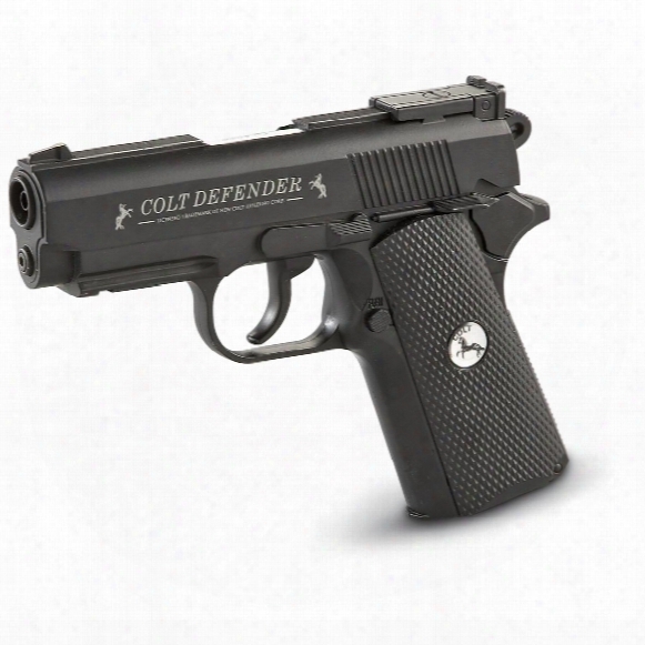 "Colt Defender Co2 Air Pistol, Double Action, .177 Caliber Bbs, 4 1/3"" Barrel, 16 Rounds"