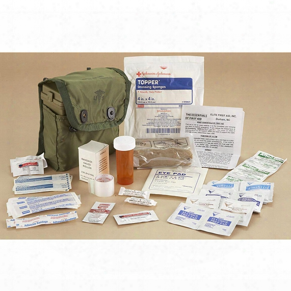 Elite First Aid Individual Military First Aid Kit, 44 Pieces