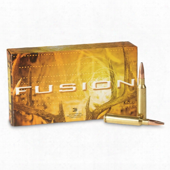 Federal Fusion, 6.5x55mm, Sp, 140 Grain, 20 Rounds