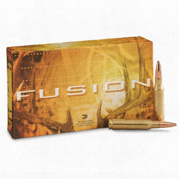 Federal Fusion, 7mm-08 Remington, Bt, 140 Grain, 20 Rounds