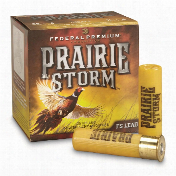 "Federal, Premium Prairie Storm, 20 Gauge, 3"" 1 1/4 Ozs., 25 Rounds"