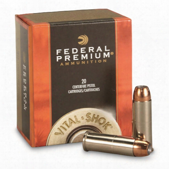 Federal Vital-shok, .44 Remington Magnum, Swift A-frame, 280 Grain, 20 Rounds