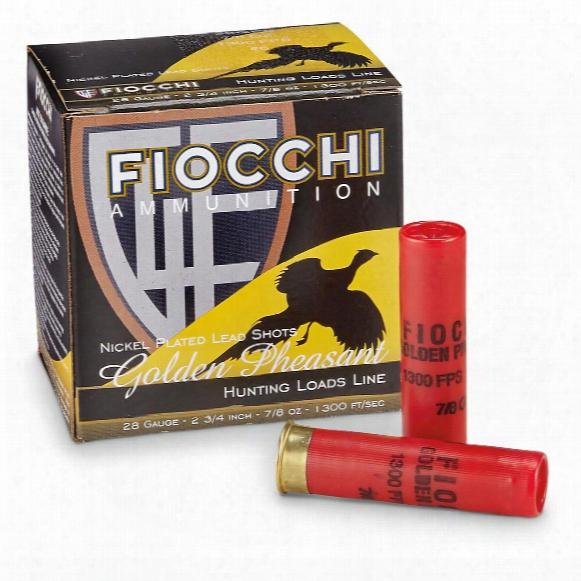 """Fiocchi Golden Pheasant, 12 Gauge, 2 3/4"""" Shells, 1 3/8 Oz., 25 Rounds"""