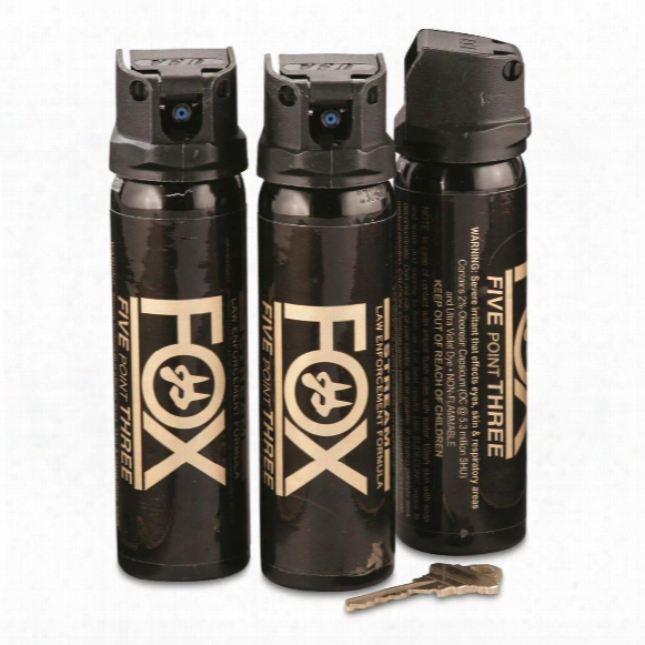 "Fox Labs ""stream"" Pepper Spray, 4 Ounce Canisters, 3 Pak"