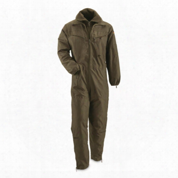 German Military Surplus Insulated Tanker Coveralls, Used