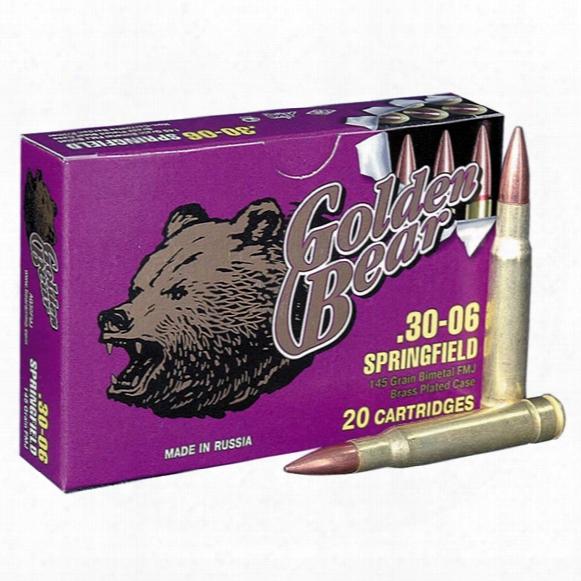 Golden Bear, .30-06 Springfield, Fmj, 145 Grain, 20 Rounds