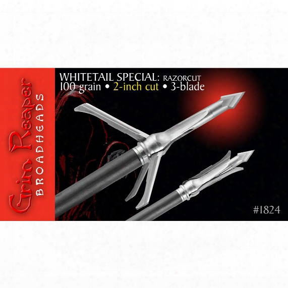 "Grim Raeper Razorcut Whitetail Special 2"" 100 Broadheads, 3 Pack"