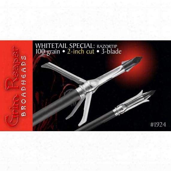 "Grim Reaper Razortip Whitetail Special 2"" 100 Broadhead, 3-pk."