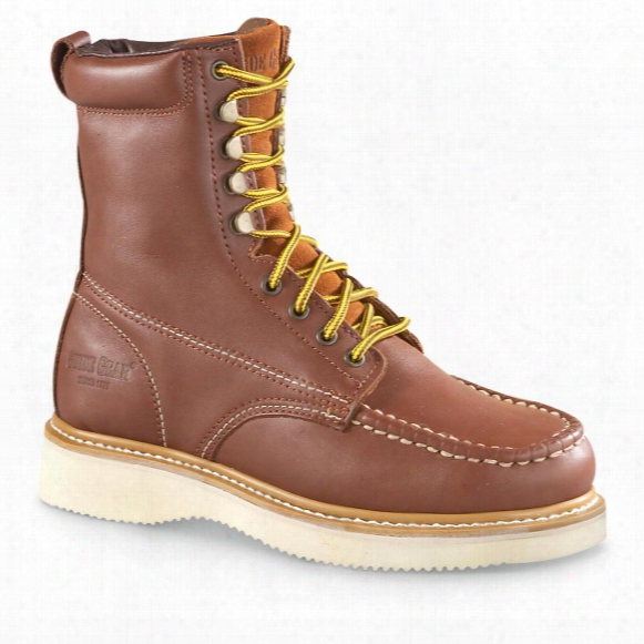 "Guide Gear Men's 8"" Moc Toe Wedge Work Boots"