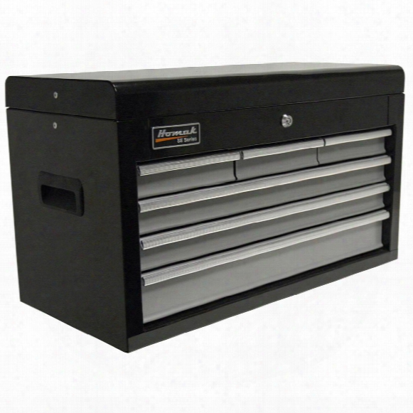 "Homak® Se Series 27"" 6 - Drawer Upper Tool Chest, Black / Gray"
