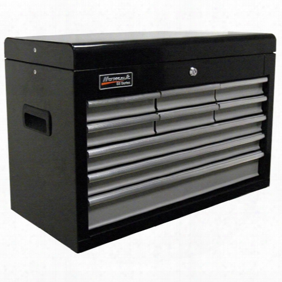 "Homak® Se Series 27"" 9 - Drawer Upper Tool Chest, Black / Gray"