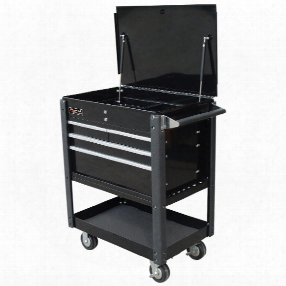 "Homak® Se Series 35"" 4-drawer Service Cart, Black"